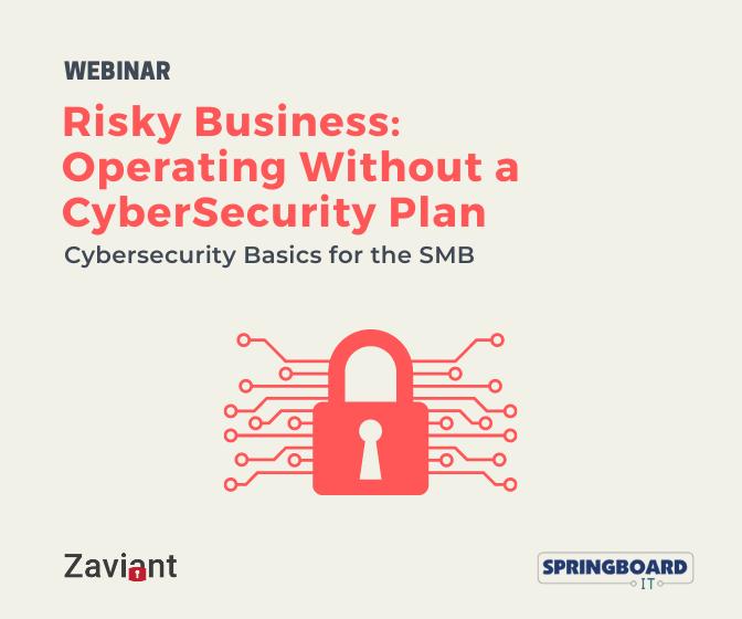 Cybersecurity Webinar Risky Business